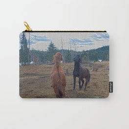 The Challenge - Ranch Horses Fighting Carry-All Pouch