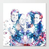 seinfeld Canvas Prints featuring Seinfeld by NKlein Design