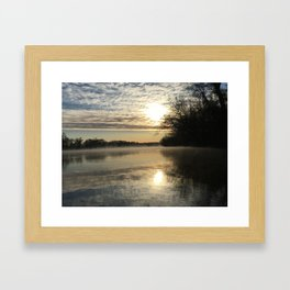 Robious Landing Sunrise Framed Art Print