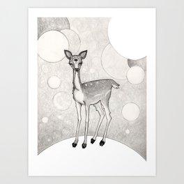 Three Eyed Deer Art Print