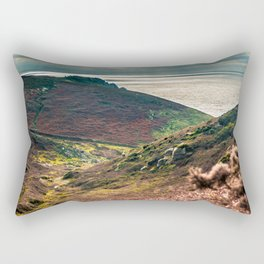 Cornish seascape, Landscape photography, Giclee print, Nautical wall decor, secret beach, Nanjizal Rectangular Pillow