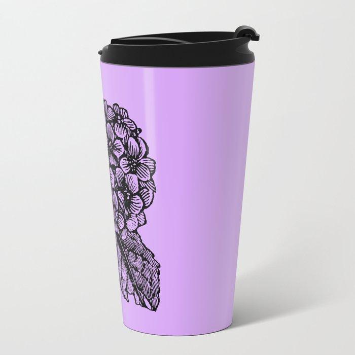 Lavender Hydrangea Travel Mug