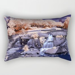 Falls Park on the Reedy in Infrared Rectangular Pillow