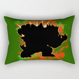 Super Smash Bros. Bowser Silhouette Rectangular Pillow