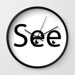 See creative typography design Wall Clock