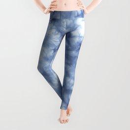 Blue Boho Tie Dye  Leggings