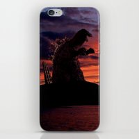godzilla iPhone & iPod Skins featuring Godzilla by Danielle Tanimura