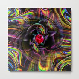 Abstract in Perfection - Flowermagic 4 Metal Print