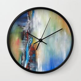 Primavera. Oil painting on canvas (abstract art) Wall Clock