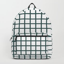 Grid (Jungle Green & White Pattern) Backpack