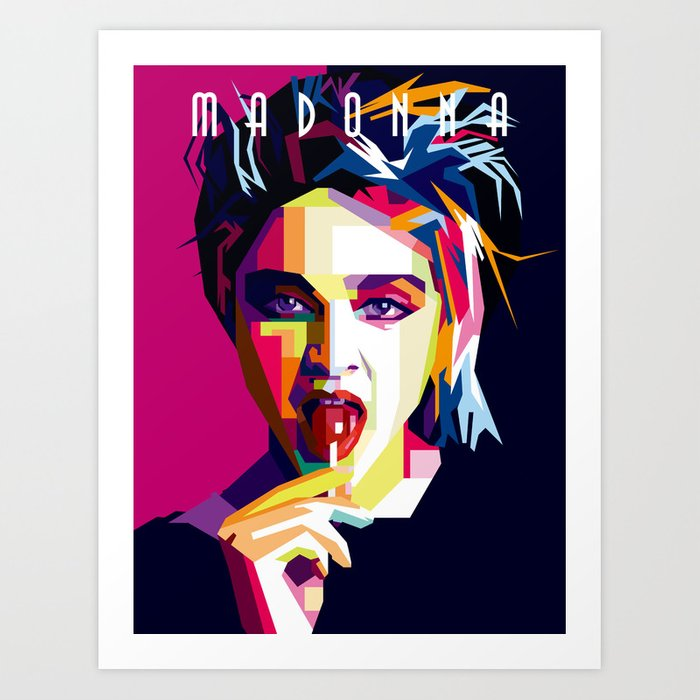 Madonna Queen of Pop Art Print