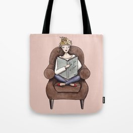 Margaux Sunday Reading Watercolor Tote Bag