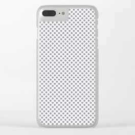 Lilac Gray Polka Dots Clear iPhone Case