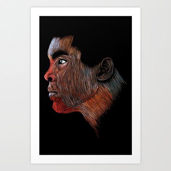Mohamed Ali Color Art Print