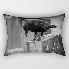 Cemetery Crow Rectangular Pillow