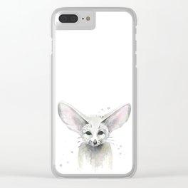 Fox.  Fennec Fox. Clear iPhone Case