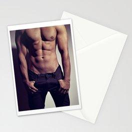 Sexy Male Body #9963 Stationery Cards