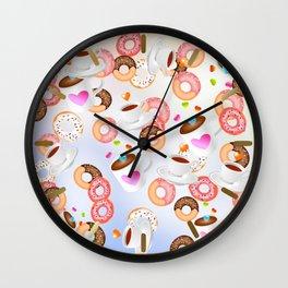 Coffee and Doughnuts En L'air Wall Clock
