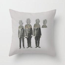 Pineapple Mugshot Throw Pillow