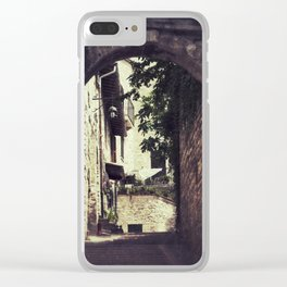 Ancient Alley Clear iPhone Case