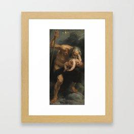 Saturn Devouring His Son - Peter Paul Rubens Framed Art Print