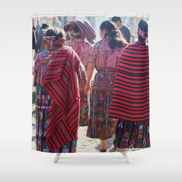 Guatemalan Women In Antigua Shower Curtain By Susymargaritagomez