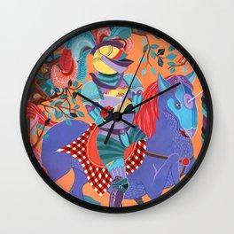 Picnic Knight Wall Clock