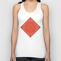tupac Tank Tops featuring red bandana by Marta Olga Klara