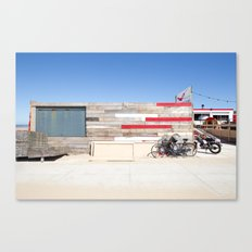 freedom block with red stairs Canvas Print