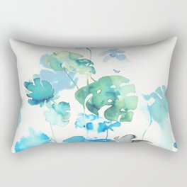 Tropical leaves, (collab Dylan Silva!) Rectangular Pillow