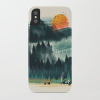 camp iPhone & iPod Cases featuring Wilderness Camp by dan elijah g. fajardo