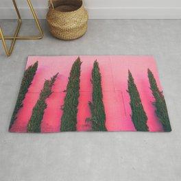 proud pink pines Rug
