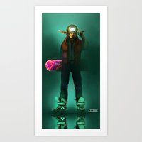 mcfly Art Prints featuring Link McFly by Foxxen