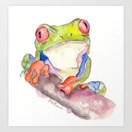 Attentive Frog Art Print