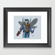 You Don't Bring a Fly Swatter to a Mothman Fight Framed Art Print