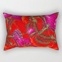 Red Butterfly Utopia Rectangular Pillow