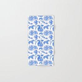 Blue Roses Watercolor Hand & Bath Towel