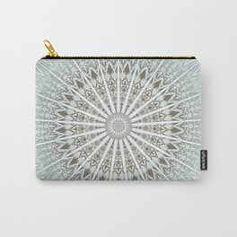 Mint Taupe Mandala Carry-All Pouch