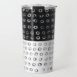 B&W Circles Travel Mug