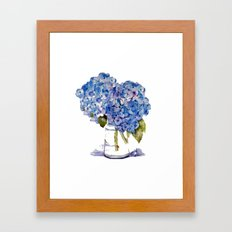 Hydrangea painting Framed Art Print