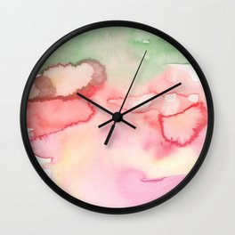 5   | Abstract Minimal Watercolor Painting | 191222 Wall Clock