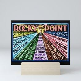 Rocky Point Amusement Park Vintage Lithograph Wall Art Mini Art Print