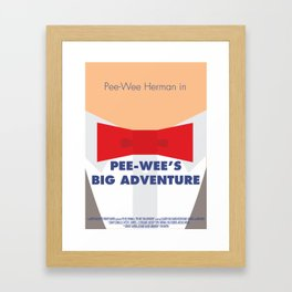 Pee-wee's Big Adventure - Minimalist Poster Framed Art Print