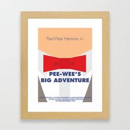 Pee-wee's Big Adventure - Minimalist Poster Framed Art Print
