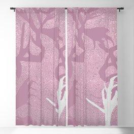Pink Fabulous Horns Blackout Curtain