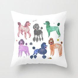 Poodles by Veronique de Jong Throw Pillow