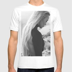 Black queen Mens Fitted Tee X-LARGE White