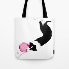 Disc Dog - Border Collie Tote Bag