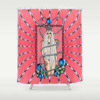 artpop Shower Curtains featuring Goddess of Artpop by Alessandro Spedicato