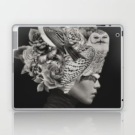 Lady with Birds(portrait) Laptop & iPad Skin